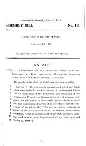 Assembly Bills, Original and Amended: Volume 2; Volume 40