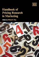 Handbook of Pricing Research in Marketing PDF