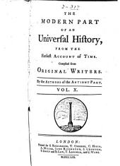 An Universal History, from the Earliest Account of Time: Volume 31