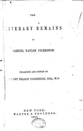 The literary remains of Samuel Taylor Coleridge PDF