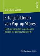 Erfolgsfaktoren von Pop up Stores PDF