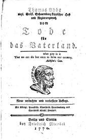 Vermischte werke...: Vom tode fürs Vaterland. Fragment der portugiesischen geschichte