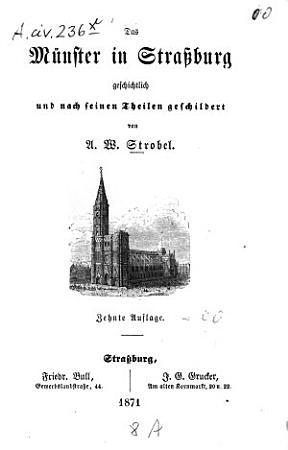 Das M  nster in Stra  burg PDF