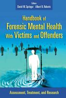 Handbook of Forensic Mental Health with Victims and Offenders PDF