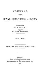Journal of the Royal Horticultural Society: Volume 14