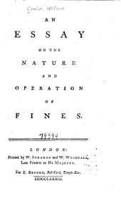 An Essay on the Nature and Operation of Fines