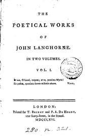 The poetical works of John Langhorne: Volume 1