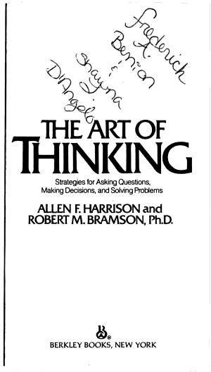 Art of Thinking PDF