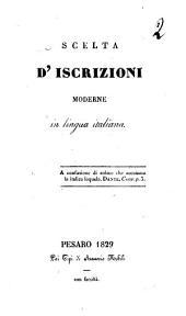Scelta d'iscrizioni moderne in lingua italiana[Terenzio Mamiani della Rovere]