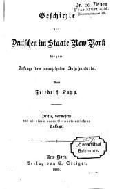 Geschichte der deutschen Einwanderung in Amerika: Band 1