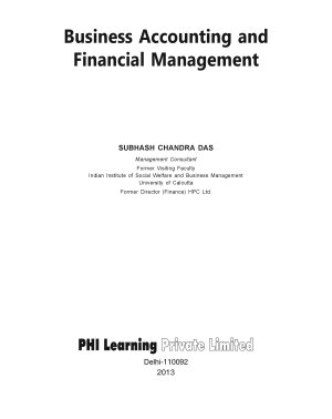 BUSINESS ACCOUNTING AND FINANCIAL MANAGEMENT