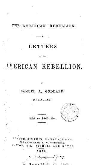 Letters on the American Rebellion PDF
