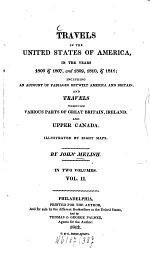 Travels in the United States of America in the Years 1806 & 1807, and 1809, 1810 & 1811