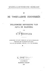 De voornaamste industrieën der inlandsche bevolking van Java en Madoera