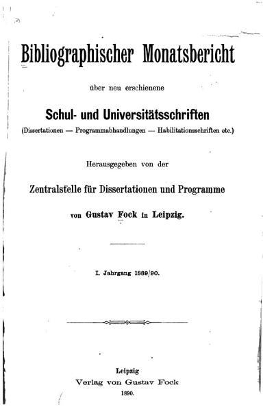 Bibliographischer Monatsbericht Uber Neu Erschienene Schul Universitats Und Hochschulschriften