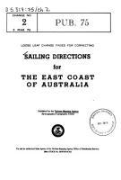 Sailing Directions for the East Coast of Australia PDF