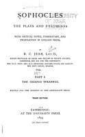 Sophocles  The Plays and Fragments PDF
