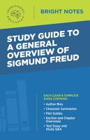 Study Guide to a General Overview of Sigmund Freud PDF