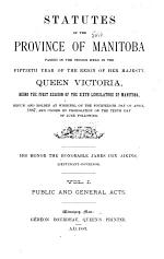 Statutes of the Province of Manitoba