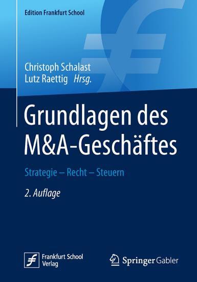 Grundlagen des M A Gesch  ftes PDF