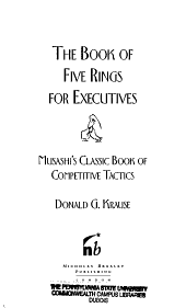 The Book of Five Rings for Executives