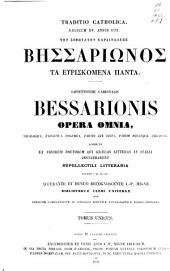 Patrologiae cursus completus ...: Series graeca, Volume 161