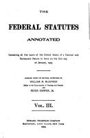 The Federal Statutes Annotated PDF