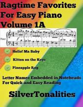 Ragtime Favorites for Easy Piano Volume 1 A