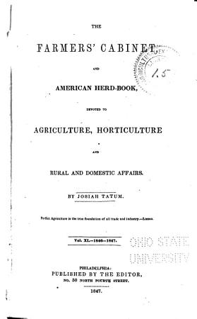 The Farmers  Cabinet  and American Herd book PDF