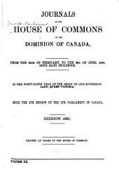 Journals of the House of Commons of the Dominion of Canada: Volume 20