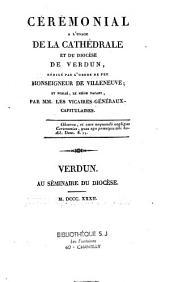 Cérémonial à l'usage de la cathedrale et du diocèse de Verdun