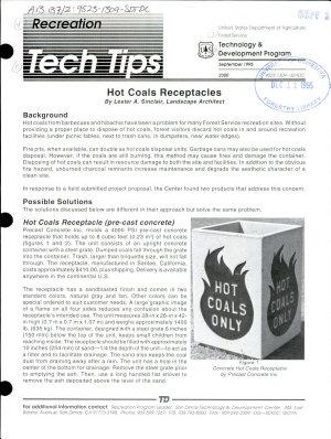 Hot Coals Receptacles