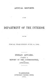 Annual report of the Department of the Interior: Volume 3, Part 1