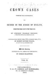1850 to 1851, by S. C. Denison ... continued from Trinity term, 1851, to Trinity term, 1852, by R. R. Pearce