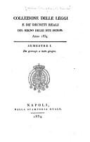 Collezione delle leggi e de decreti reali del regno delle Due Sicilie PDF