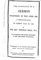 The substance of a sermon     on occasion of the     explosion of the  Red Rover  steam boat PDF