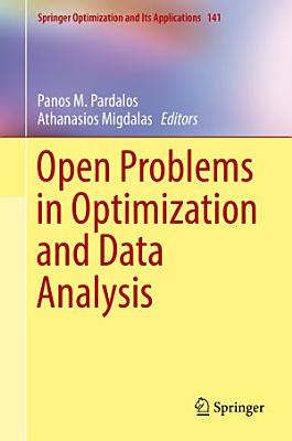 Open Problems in Optimization and Data Analysis PDF