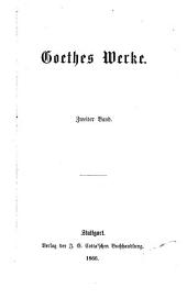 Goethes Werke: Band 2
