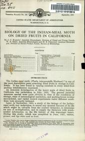 Biology of the Indian-meal moth on dried fruits in California