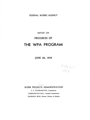 Report on Progress of the WPA Program PDF