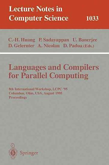 Languages and Compilers for Parallel Computing PDF
