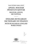 Angol-magyar pénzügyi szótár