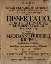 De Christianorum sapientia in evitandis et diiudicandis controversiis circa res huius seculi diss