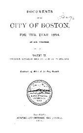 Documents of the City of Boston: Volume 6