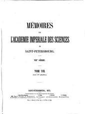 Mémoires de l'Académie impériale des sciences de Saint-Pétersbourg: Volume17