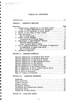 Plant Ecology Work Book PDF