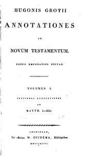 Annotationes in Novum Testamentum: Matth. I-XIII