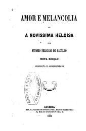 Amor e melancolia, ou, A novissima Heloisa