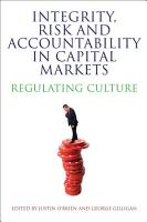 Integrity  Risk and Accountability in Capital Markets PDF