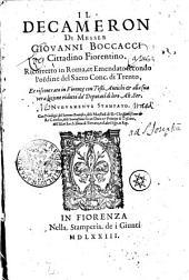 IL DECAMERON DI MESSER GIOVANNI BOCCACCI Cittadino Fiorentino